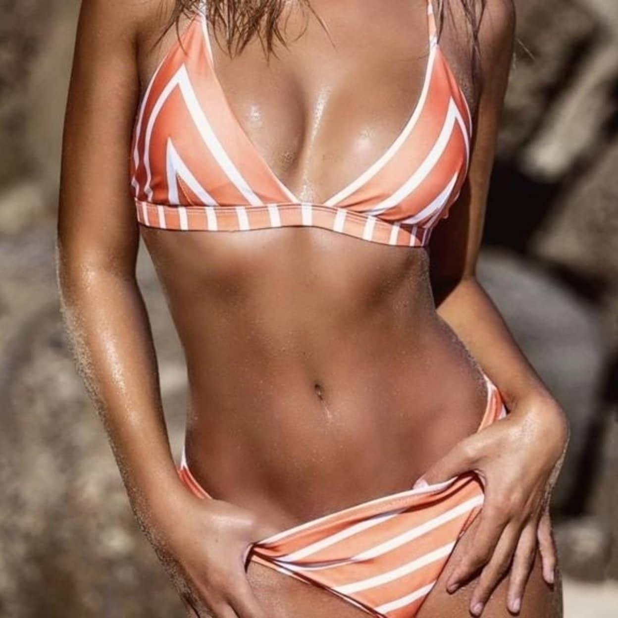 129c1cc4861753 Shop [EAST LIFE LI] Hot Sale Women Bikini Set Striped Swimwear Female Sexy  Push Up Halter Swimsuit Bathing Suit Summer Beachwear - Free Shipping On  Orders ...