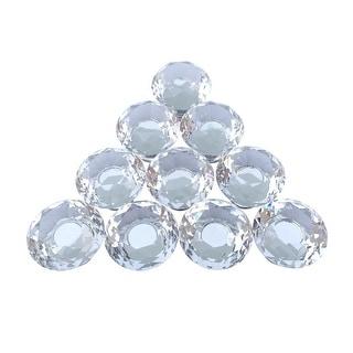 Clear Glass Cabinet Knobs 1.18 Inch Diameter Mushroom 10 Pcs