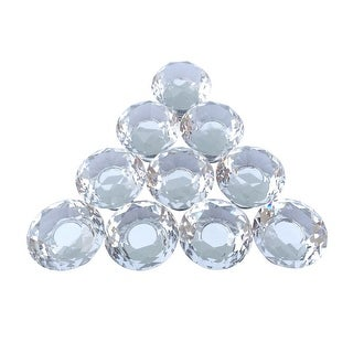 Clear Glass Cabinet Knobs 1.8 Inch Projection Mushroom 10 pcs | Renovator's Supply
