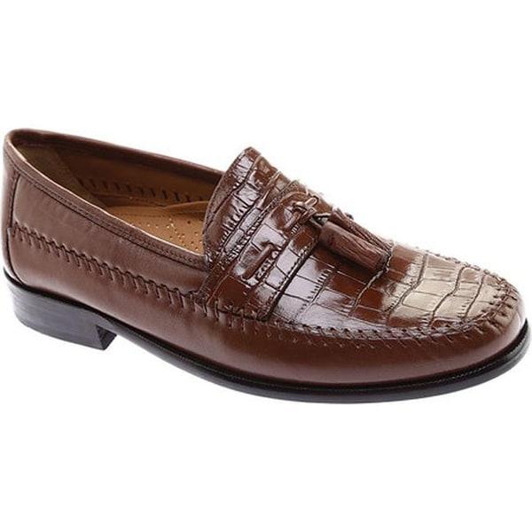 Florsheim Mens Cognac Pisa Leather Dress Tassel Slip On Trendy Comfy Loafer Shoe