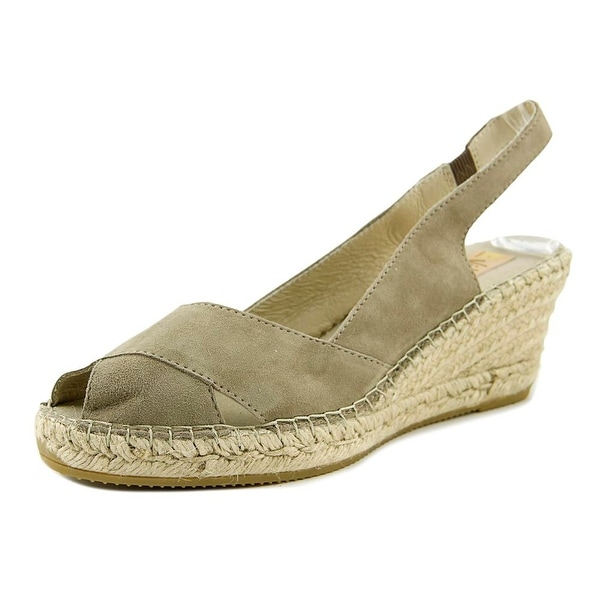 Vidorreta Salon Cruzado Women Open Toe Suede Gray Wedge Sandal