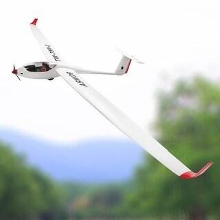 Costway Volantex ASW28 RC Glider Airplane Sailplane PNP Brushless No Radio - white&red
