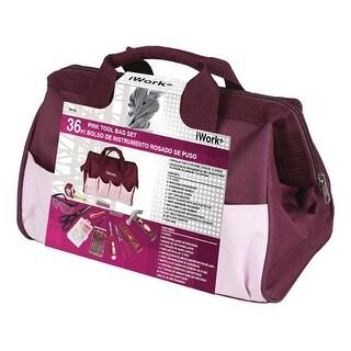 Olympia Tools 80-795 iWork Pink Tool Bag Set, 36 Piece