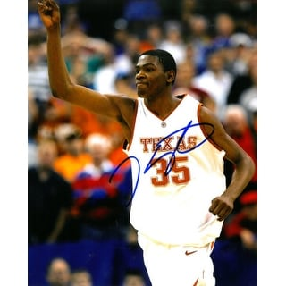ff79b70b4 Shop Kevin Durant signed Texas Longhorns 8x10 Photo white jersey - Free  Shipping Today - Overstock - 19868176