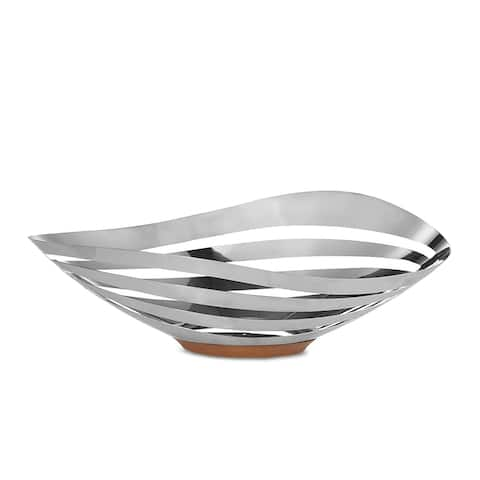 Nambe Pulse Bread and Fruit Bowl - Silver