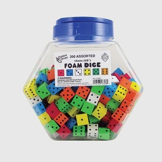 16Mm Foam Dice Tub Of 200 Assorted