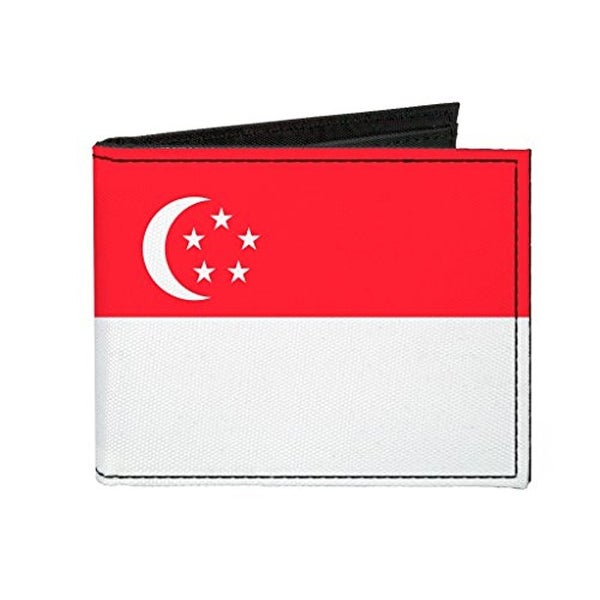 Buckle-Down Canvas Bi-fold Wallet - Singapore Flag Accessory