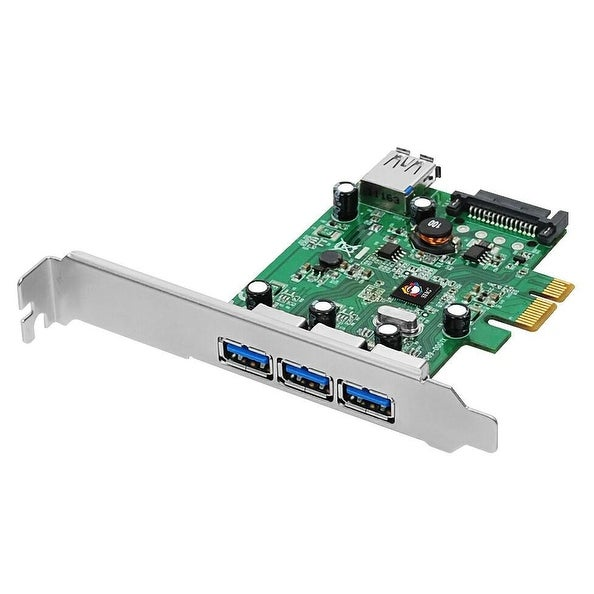 Siig, Inc. - Dual Profile Pci Express 4-Port Superspeed Usb 3.0 Host Adapter