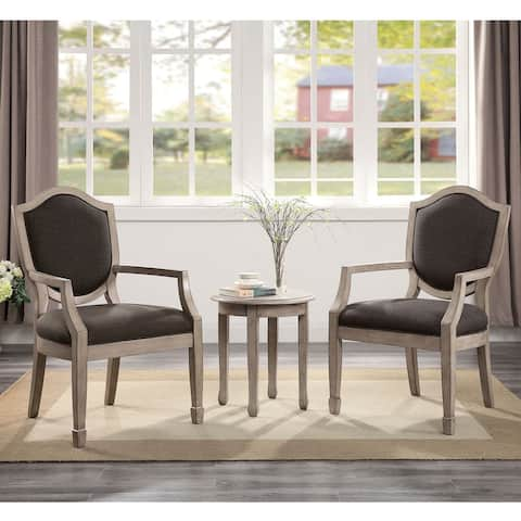 Furniture of America Flob Transitional Grey 3-piece Table and Chair Set
