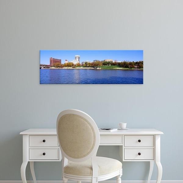 Easy Art Prints Panoramic Images's 'Buildings in a city, Wichita, Kansas, USA' Premium Canvas Art
