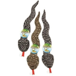 Ruffin' It 16290 Squeaky Plush Snake Dog Toys, Assorted