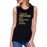 Insane Work Out Muscle Tee Women's Workout Tank Gym Sleeveless Top