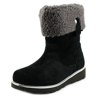 Ugg Australia Callie Youth Round Toe Suede Black Winter Boot