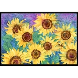 Carolines Treasures IBD0247JMAT Sunflowers & Purple Indoor or Outdoor Mat 24 x 36