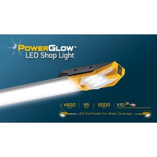 Powerglow Overhead Light Fixture LED 4500 Lumens Garage Shop EZ Install - 240000