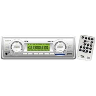 Pyle Audio PLMR89WW Pyle PLMR89WW Marine Flash Audio Player - 160 W RMS - Single DIN - LCD Display - MP3 - AM, FM - 18, 12 x FM,