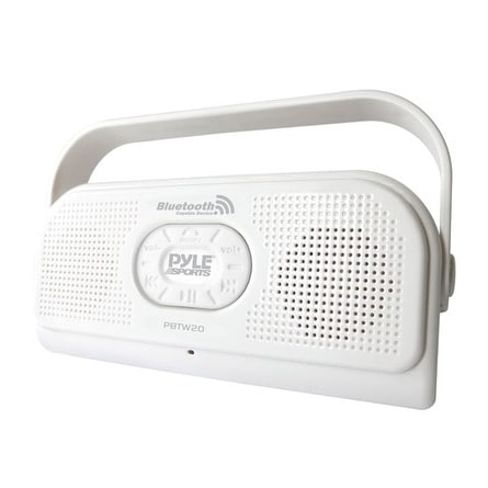 Surf Sound Party Waterproof Wireless Bluetooth Stereo Speaker with Microphone For Cell Phone Talking (Color White)