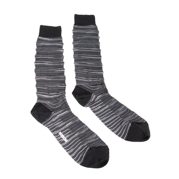 Missoni GM00CMU3187 0001 Gray/Black Knee Length Socks - Grey