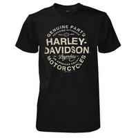 Harley-Davidson Men's On Rails Short Sleeve Chest Pocket T-Shirt - Black