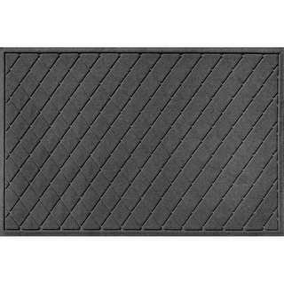 20377540035 Water Guard Argyle Mat in Charcoal - 3 ft. x 5 ft.