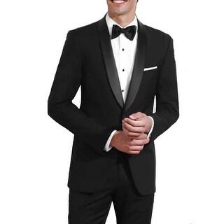 Black One Button Slim Fit Shawl Tuxedo