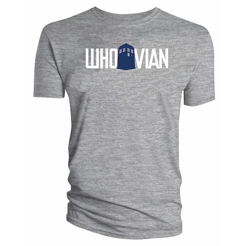 Doctor Who Classic Mens T-Shirt Whovian Sport Grey Xl