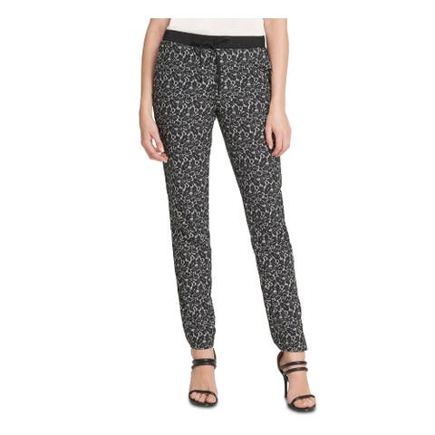 DKNY Womens Gray Floral Pants Size S