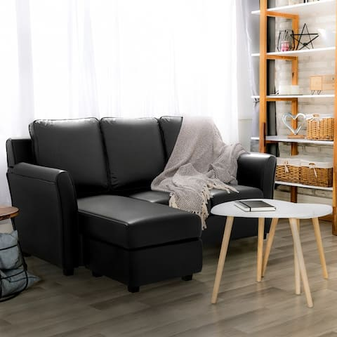 Furniture of America Golt Contemporary Upholstered L-shaped Sectional