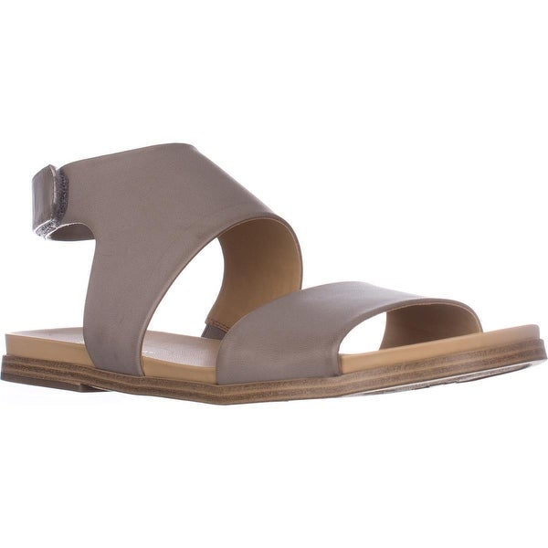 naturalizer Kimono Flat Sandals, Light Grey Smooth