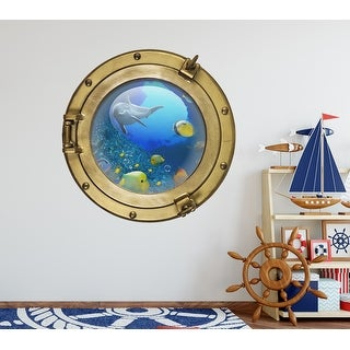 Porthole Wall Decal Pirate Ship Sea Wall Art Sticker Decal Mural Transfer WSD624