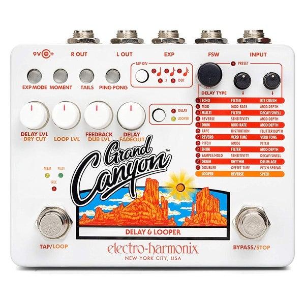 Electro Harmonix Grand Canyon Multifunction Delay & Looper Pedal w/ Power Supply