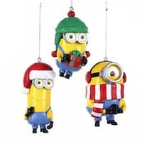 Club Pack of 24 Yellow and Dark Red Despicable Me Minions Ornaments 3.5""