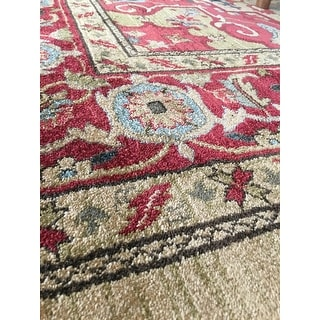 Safavieh Mahal Traditional Grandeur Red/ Natural Rug