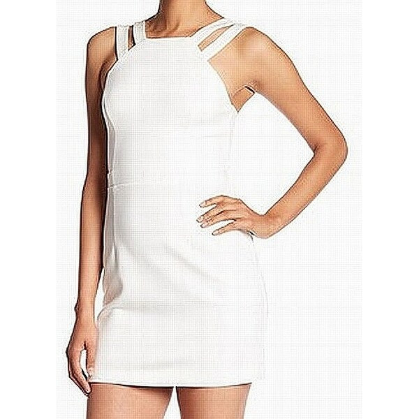 French Connection White Ivory Womens Size 6 Seamed Sheath Dress