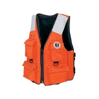Mustang Survival Mustang Four Pocket Vest W Solas Tape Xl Or Mv3128t2 Xl Or
