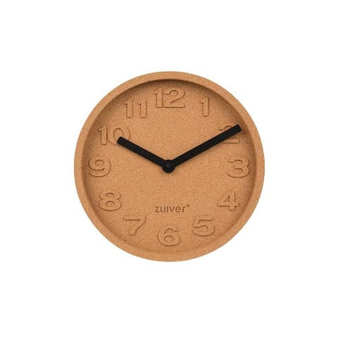 Zuiver Time Round Cork Wall Clocks