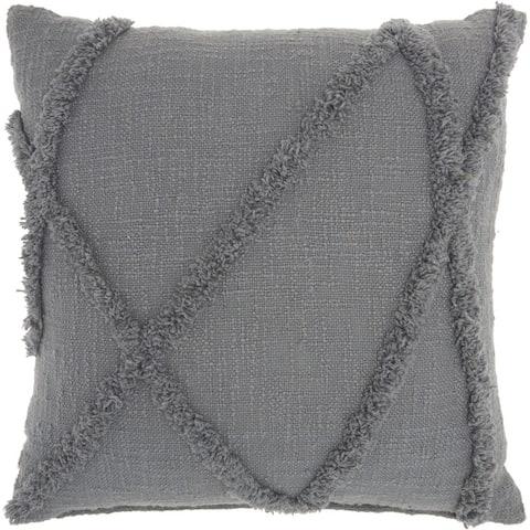 Mina Victory Distressed Diamond Boho Throw Pillow