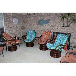 International Caravan Maui Swivel Rocker with Indoor/Outdoor Cushion
