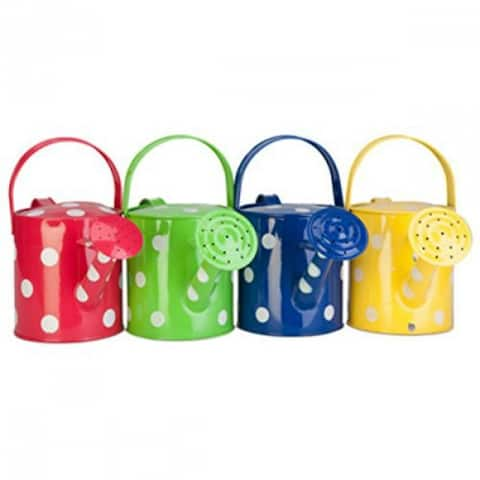 Panacea 84892 Polka Dot Watering Can, Assorted Colors, 1/2 Gallon