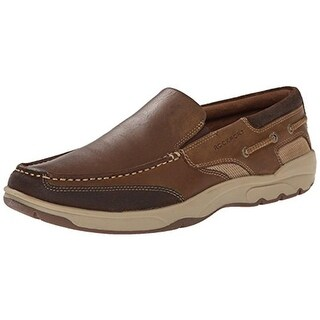 Rockport Mens Class Racing Leather Contrast Boat Shoes - 11.5 medium (d)