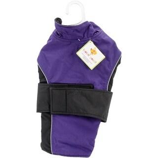 Purple Extra Small - Dog Waterproof Reflective Coat
