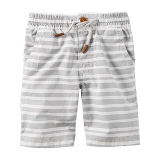 Carter's Baby Boys' Pull-On Poplin Shorts, Gray White Stripe, 9 Months - Multi-Colored