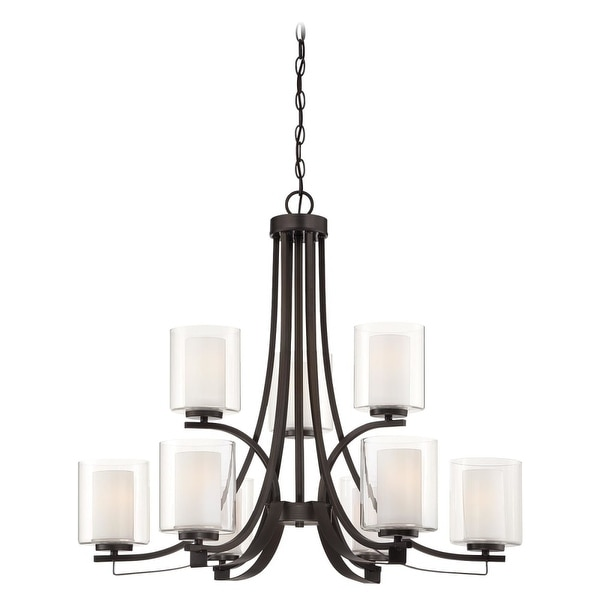 Minka Lavery 4109 9 Light 2 Tier Chandelier from the Parsons Studio Collection - smoked iron