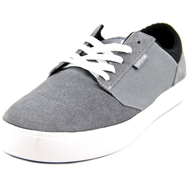 Supra Yorek Low Men Round Toe Canvas Gray Sneakers