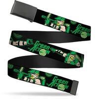Blank Black  Buckle Green Arrow Action Poses Targets Black Greens Web Belt