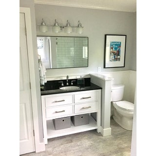 Shop Avanity Brooks White 43-inch Vanity Combo with Top ...
