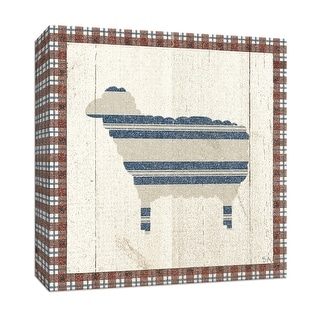 "PTM Images 9-152915  PTM Canvas Collection 12"" x 12"" - ""Americana Sheep"" Giclee Sheep Art Print on Canvas"