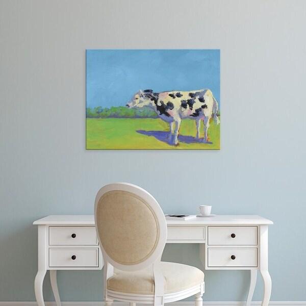 Easy Art Prints Carol Young's 'Cow Pals III' Premium Canvas Art