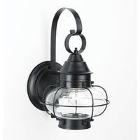 "Norwell Lighting 1324 Cottage Onion Single Light 16"" Tall Outdoor Wall Sconce with Clear Glass Shade"