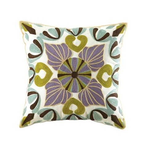 Gaia Embroidered Throw Pillow set